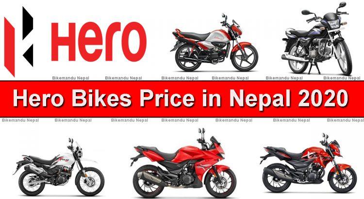 Hero bikes price